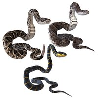 3D rigged snakes model