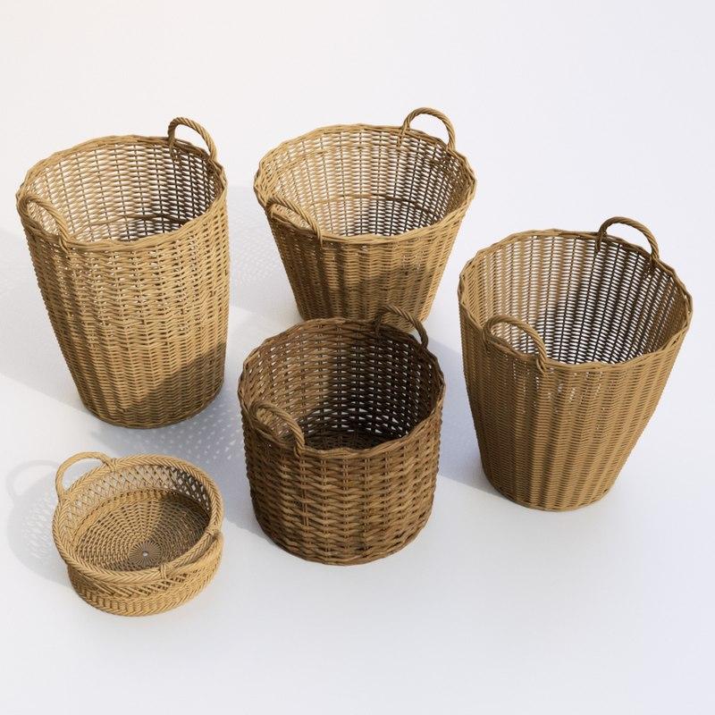 3D set basket model