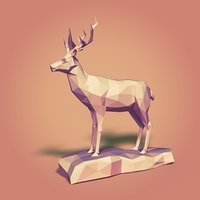 cartoon toon deer 3D