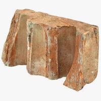 brick piece 01 3D model