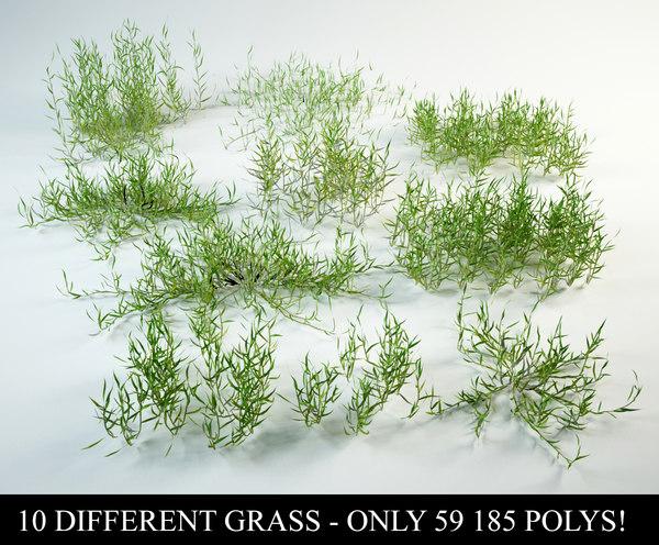 3D grass bushes model