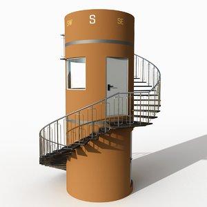 3D tower watchtower kojima