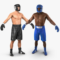 3D model boxers adult man