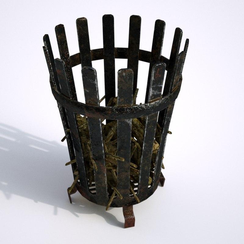 3D medieval brasier model
