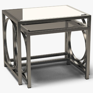 square coffee tables metal 3D