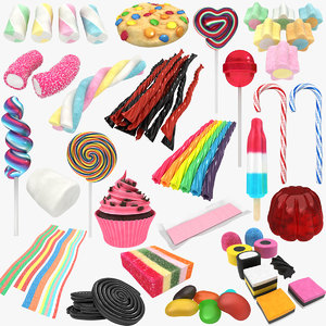 3D candy licorice allsorts