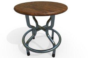 doctor s exam stool 3D model
