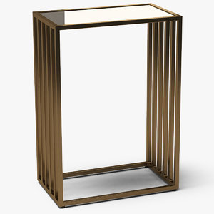 square end table metal 3D model