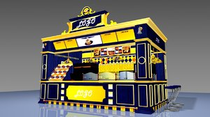 airport cafe bistro 3D