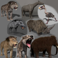 Past mammals pack - 3d animated past mammals pack