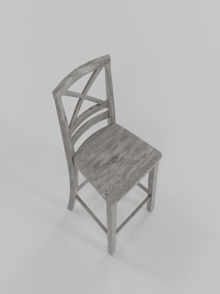 chair kitchen blender 3D model