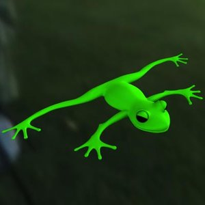 cartoon frog 3d model