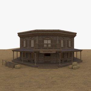 saloon interior 3D