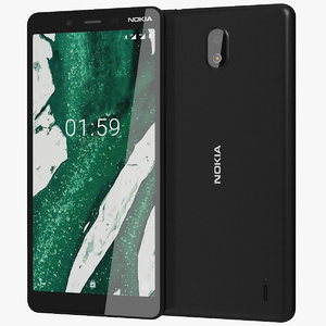 realistic nokia 1 black 3D model