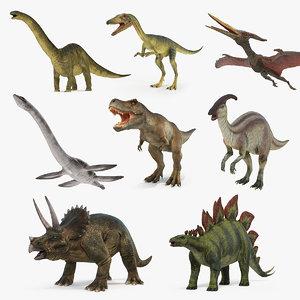 3D dinosaurs 3 model