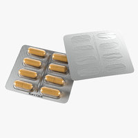 3D model pills blister