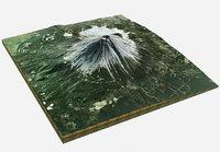realistic mountain terrain landscape 3D model