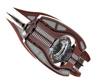 Sleek Sci-fi spaceship