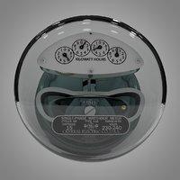 3D general electric watthour meter model