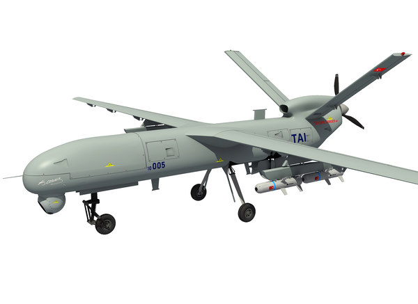 3D model uav anka turkish