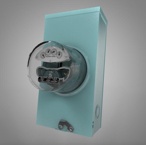 general electric watthour meter 3D model