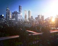 freeway city environment road 3D