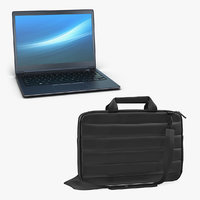 Laptop and Carrying Case 3D Models Collection