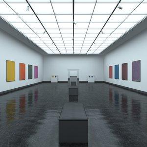 modern art gallery 3D