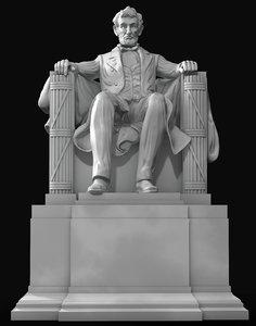 3D model abraham memorial statue