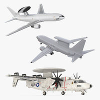Rigged Spy Planes 3D Models Collection