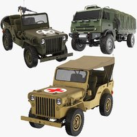 Three Army Vehicle Collection