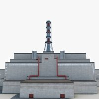 3D power plant chernobyl model