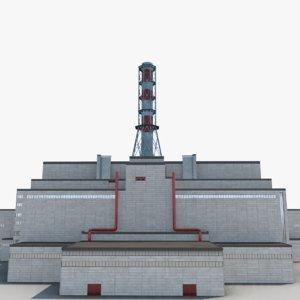 3D power plant chernobyl model