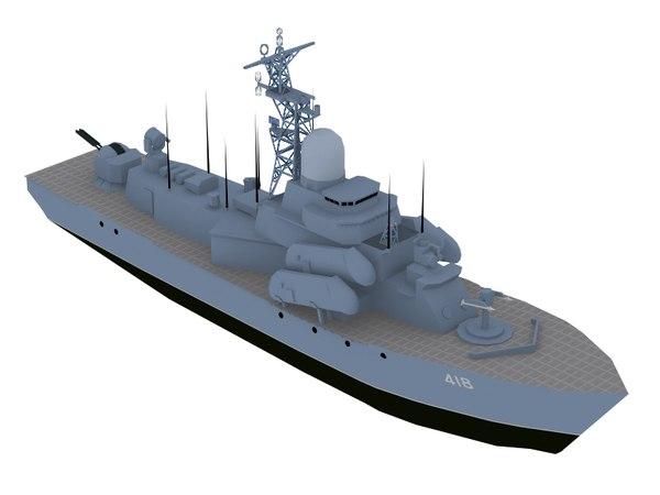 missile boat 3D