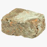 brick piece 04 3D