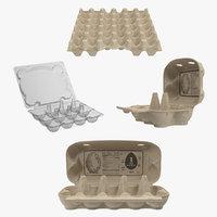 3D eggs packages model