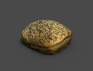 roll bread scan 3D model