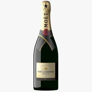 3D moet chandon champagne