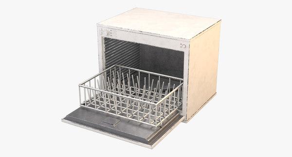 3D cartoon dishwasher washer