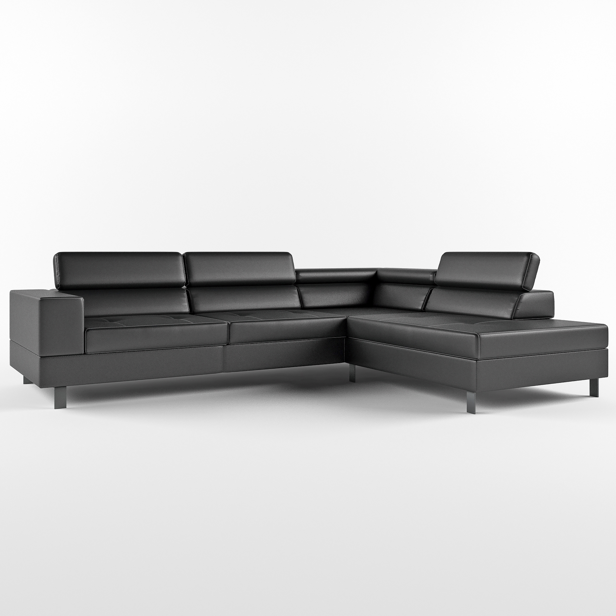 Brilliant Corner Sofa With Black Leathered Base Caraccident5 Cool Chair Designs And Ideas Caraccident5Info