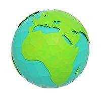 cartoon earth world 3D model