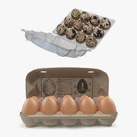 eggs package 3D model