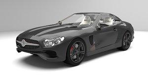 3D mercedes sl cabrio model