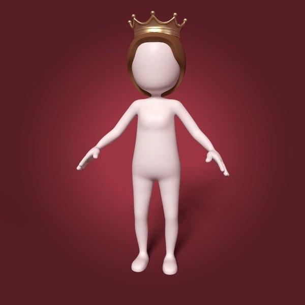 cartoon queen model
