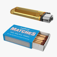 3D matchbox lighter box model