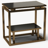 3D model square end table metal