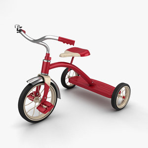 tricycle trike bicycle 3D model