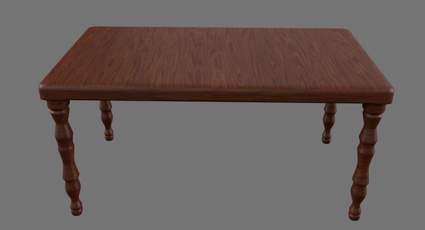 3D table 4096x4096 pbr