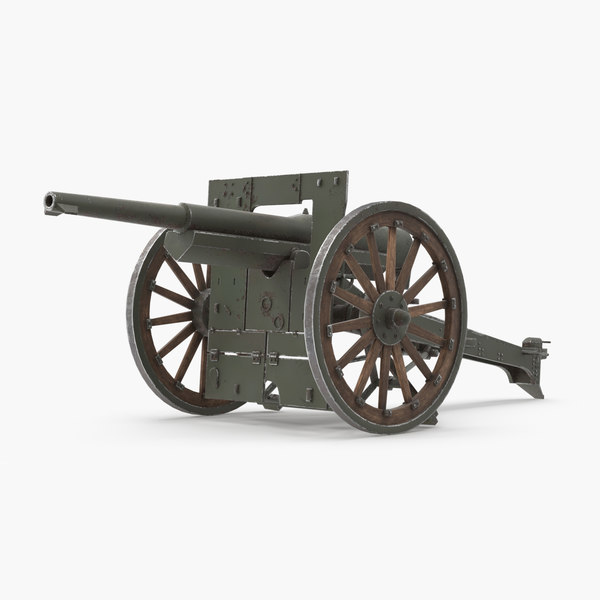 3d french 75mm 1897 model