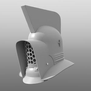 3D model murmillo gladiator